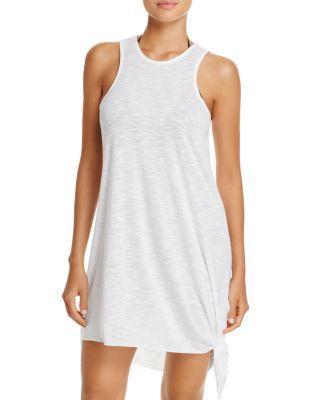 30f9498935 Becca By Rebecca Virtue Breezy Basics Asymmetrical-Hem Cover-Up Dress  Women's Swimsuit In
