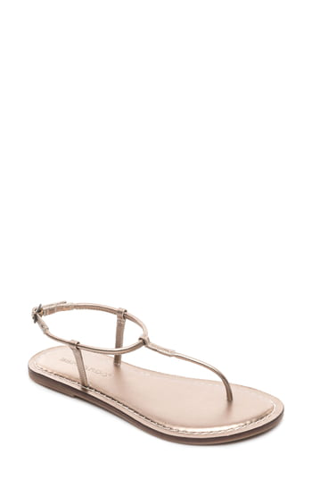 d0b465aed41 Bernardo Lilly T-Strap Thong Sandals In Platinum Leather