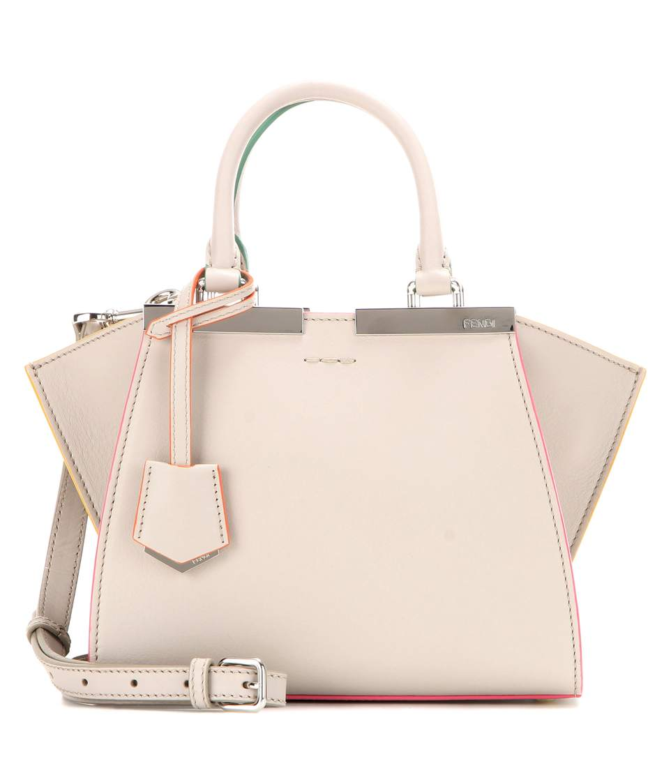 Fendi 3jours Mini Leather Tote In Grey