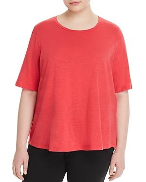 fb813aeff779d Eileen Fisher Plus Size Organic Cotton T-Shirt In Strawberry