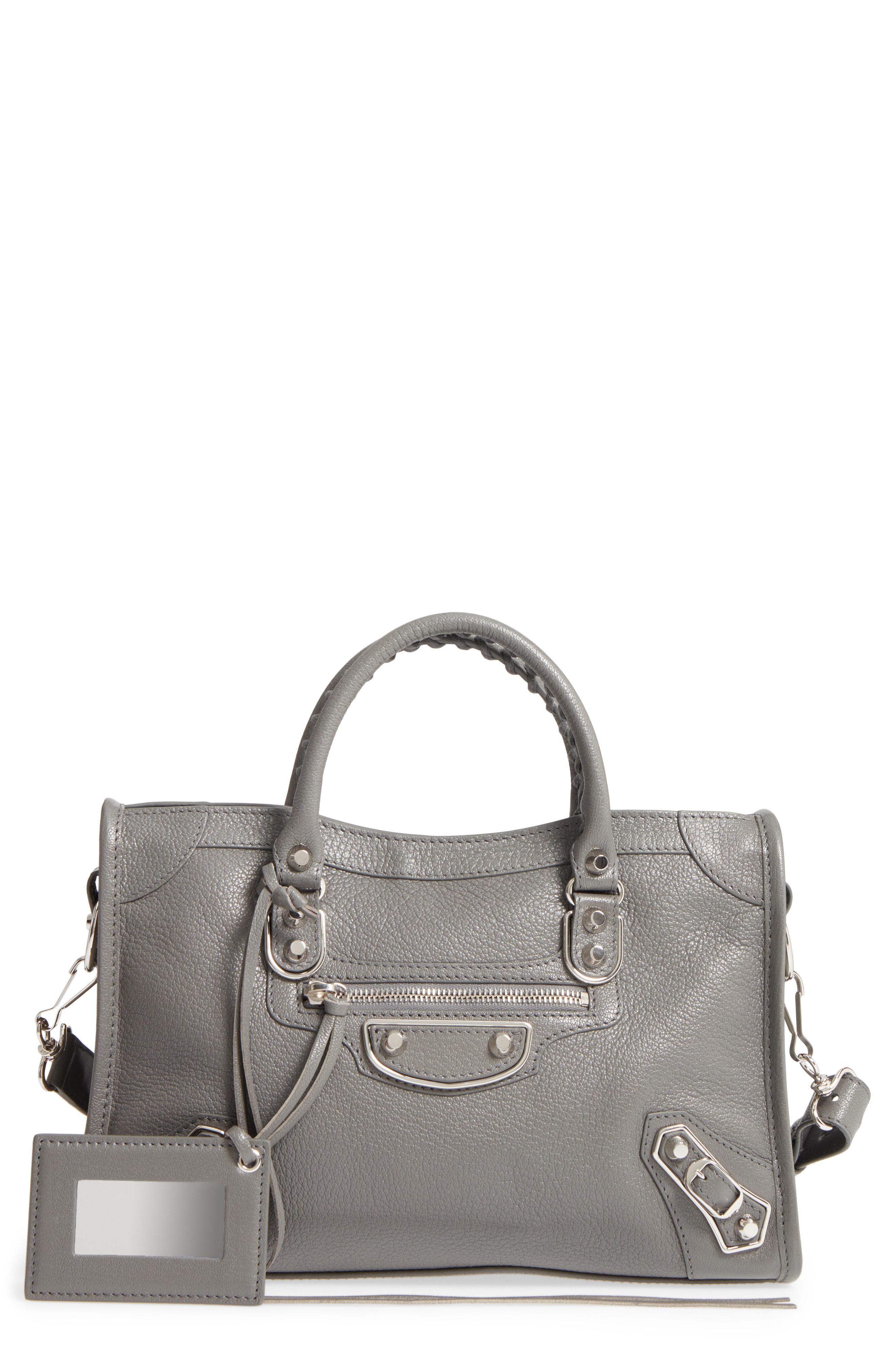 9c4421fbb801 Balenciaga Small Classic Metallic Edge City Leather Tote - Grey In ...