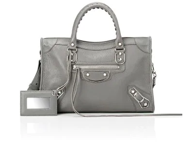 cd95b8eac2 Balenciaga Small Classic Metallic Edge City Leather Tote - Grey In ...