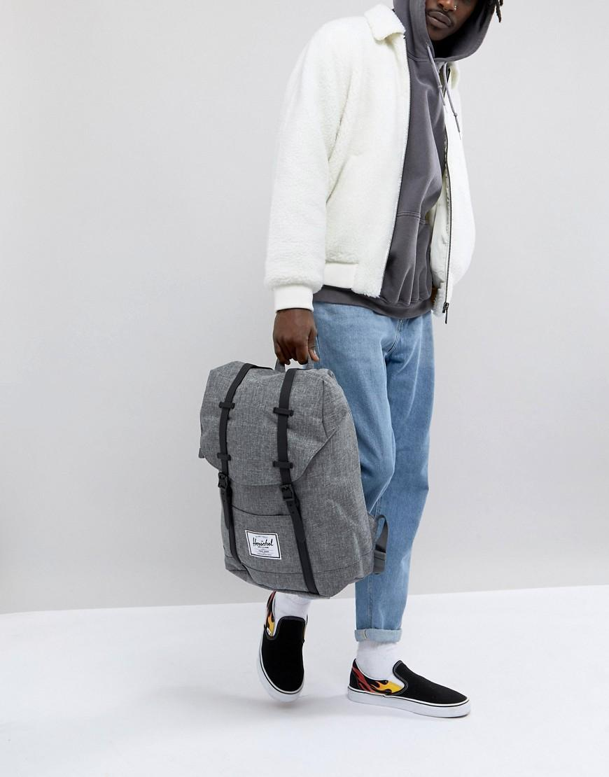 60ccaa08799 Herschel Supply Co Retreat Backpack In Crosshatch 19.5L - Gray ...