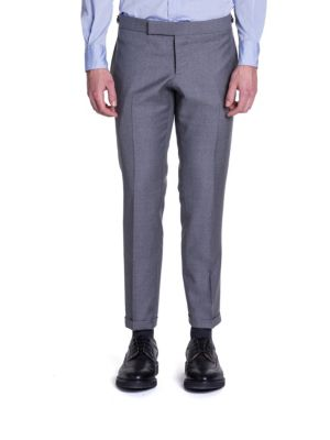 Thom Browne Super 120s Plain Weave Wool Trousers In Grey