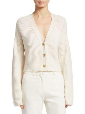 Elizabeth And James Ribbed Wide Sleeve Sweater In Ivory
