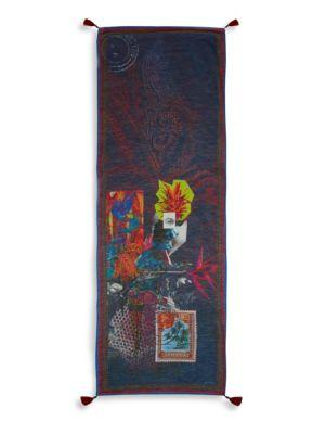 Etro Graphic-Print Scarf In Navy