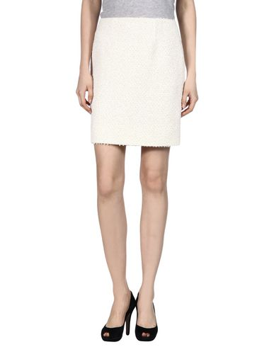 Oscar De La Renta Knee Length Skirt In White
