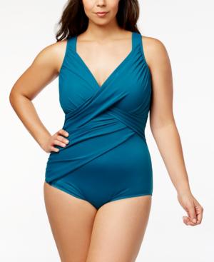 561c78c401b9b Miraclesuit Razzle Dazzle Siren Twist-Front Underwire Allover Slimming One-Piece  Swimsuit Women's Swimsuit