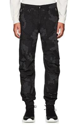 Stone Island Digital-Camouflage Cotton-Blend Slim Cargo Pants In Black