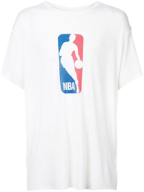 6651e66a07a9 The Elder Statesman Nba Printed Cashmere And Silk-Blend T-Shirt In White