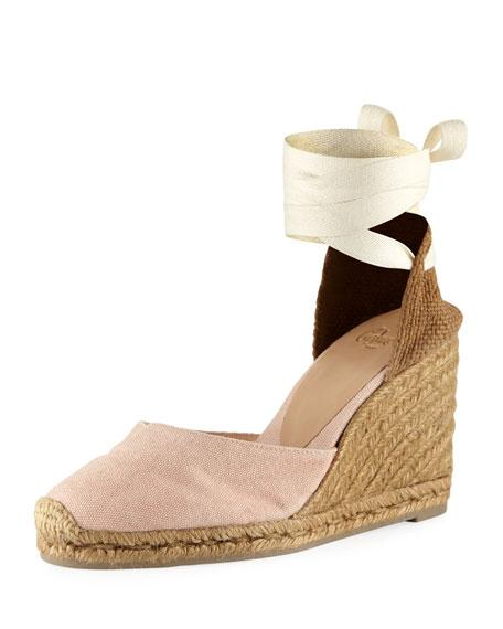 550fd5c1ae8 Castaner Canvas Carina Wedge Espadrilles In Pink in Pastel Pink