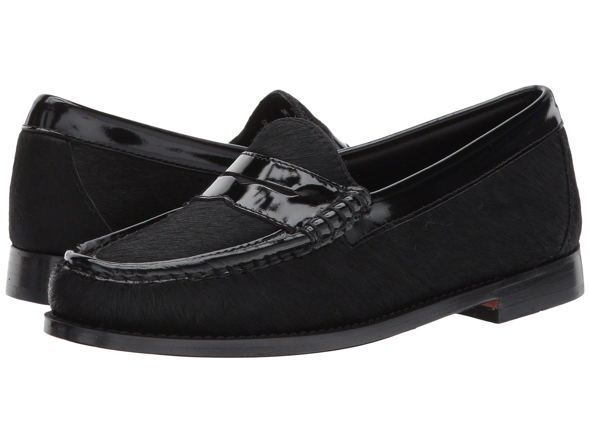 f75256b6f701 G.H. Bass   Co. Whitney Weejuns In Black Black Calf Hair Patent ...