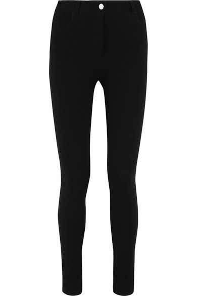 Givenchy Woman Leggings In Black Stretch-twill Black