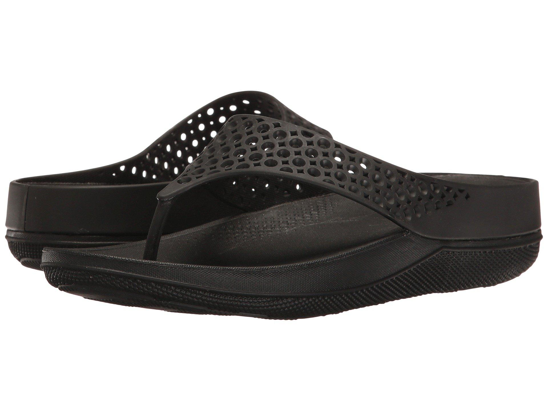 90a7720fac7c6 Fitflop Ringer Welljelly Flip-Flop In All Black