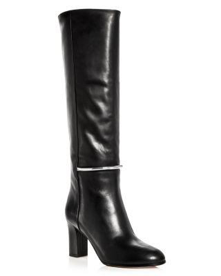 16335e5d7f9 Women's Shaw Leather Tall High-Heel Boots in Black Soft Barcellona Calf