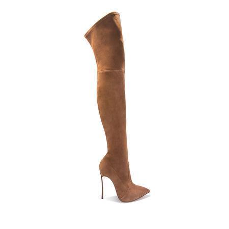 Casadei Thigh-length High Boots In Oak