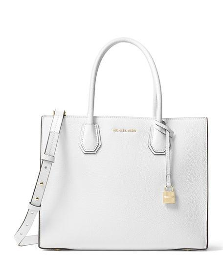 9758b61a127d Michael Michael Kors Mercer Large Convertible Tote Bag In Optic White