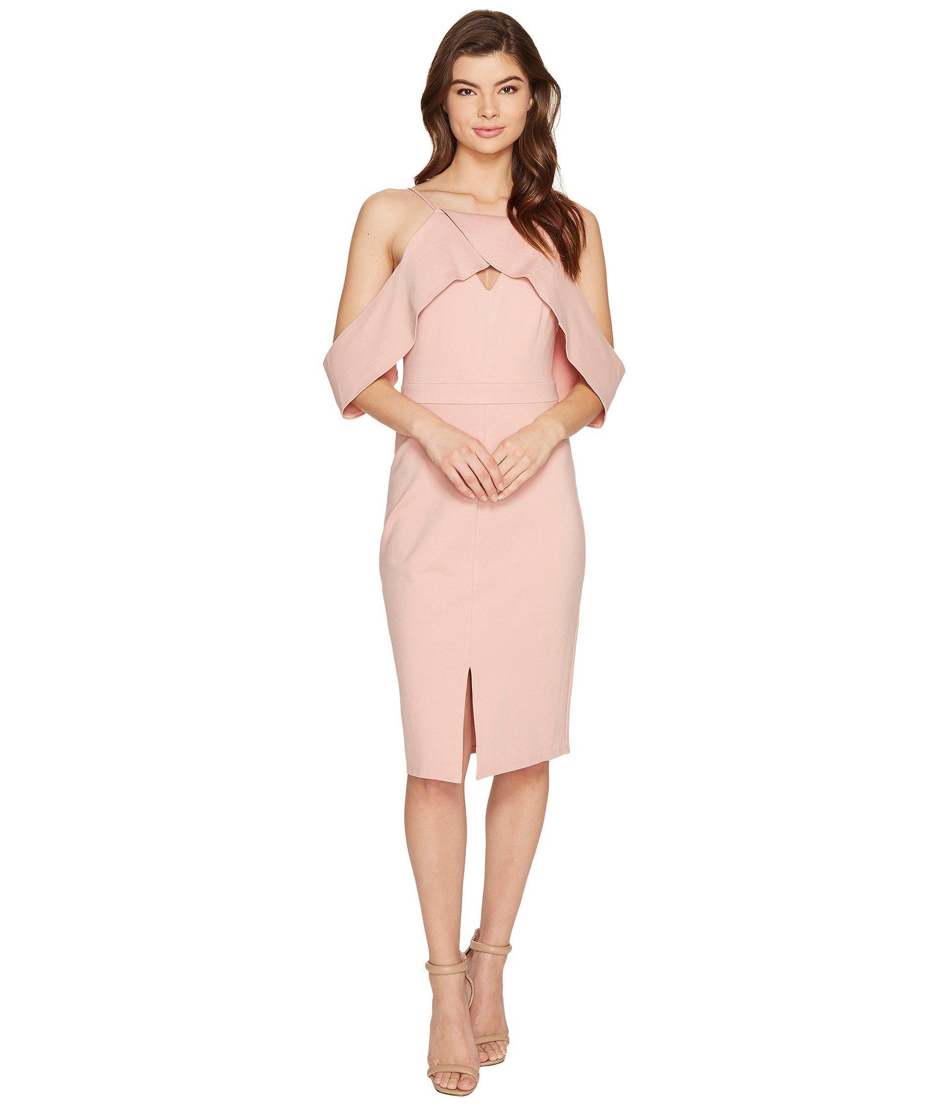 620f0aef8cb Adelyn Rae Alessandra Knit Ponte Cold Shoulder Dress