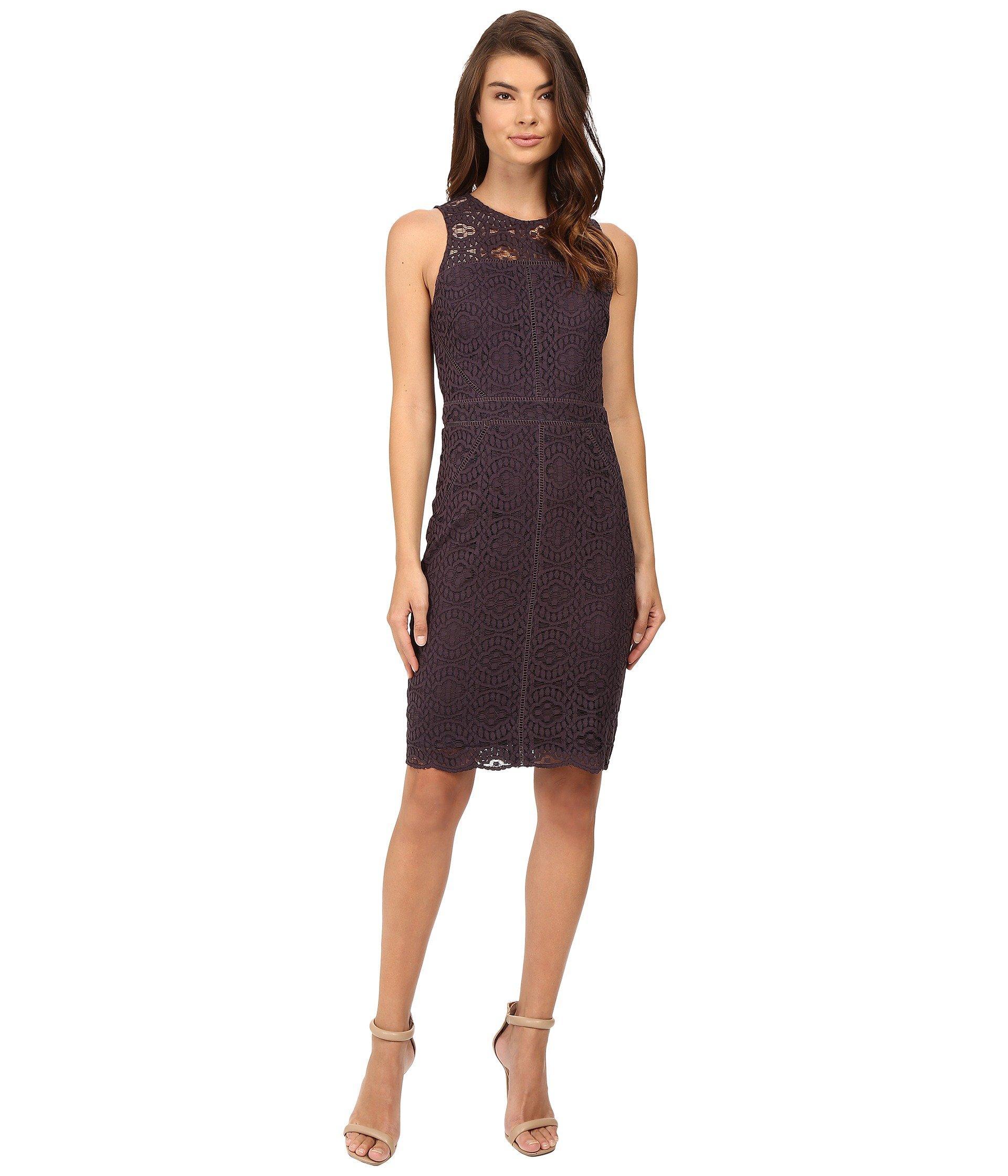 564494bf Adelyn Rae Lace Sheath Dress In Grey | ModeSens
