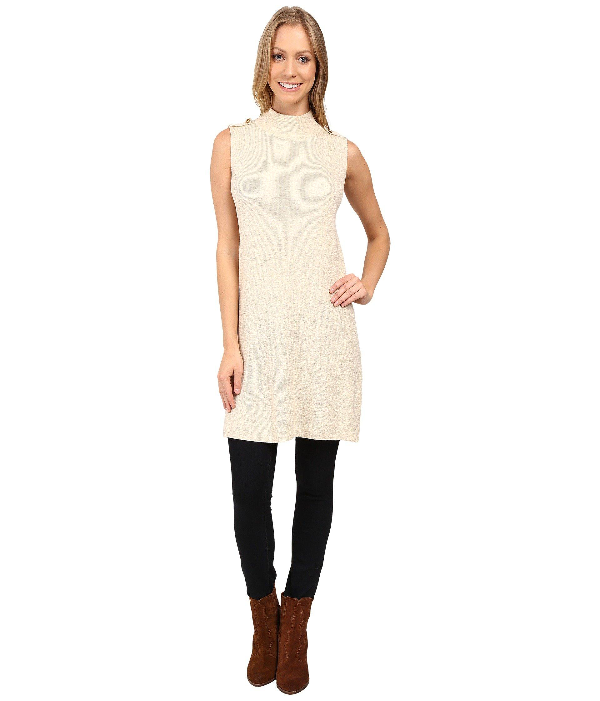 1ee442605d0c2 B Collection By Bobeau Naomi Sleeveless Turtleneck In Oatmeal