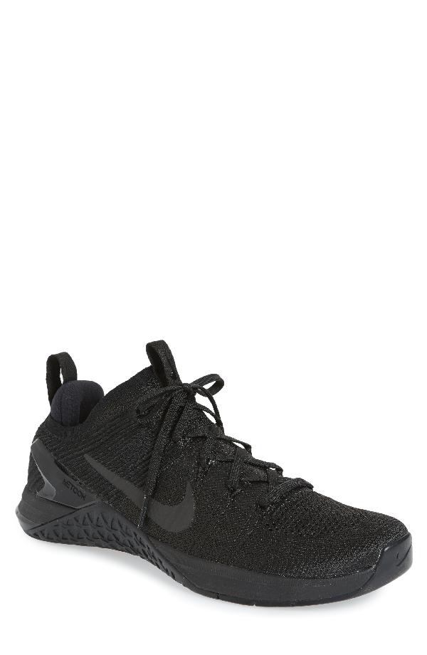 06553e39c5502 Nike Metcon Dsx Flyknit 2 Training Shoe In Black  Black Hyper Crimson