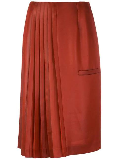 068b974d45 Marco De Vincenzo Pleated Midi Skirt In Brown   ModeSens