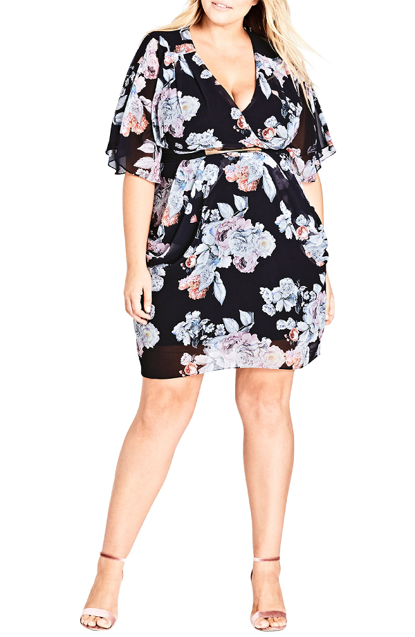 1b63905486 City Chic Trendy Plus Size Printed Faux-Wrap Dress In Sublime Floral ...