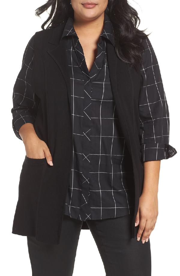 Foxcroft Jodi Longline Sweater Vest In Black
