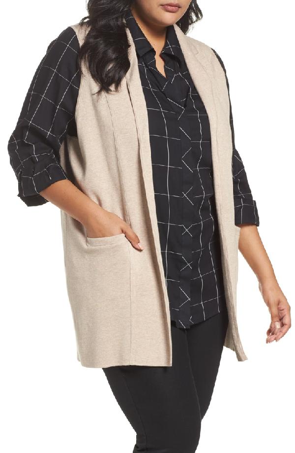 Foxcroft Jodi Longline Sweater Vest In Camel