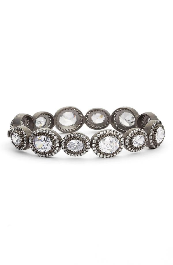 Freida Rothman Line Bracelet In Silver/ Black