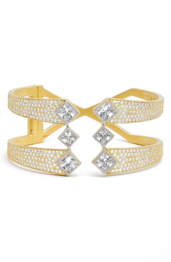 Freida Rothman Visionary Fusion Hinge Cuff In Gold