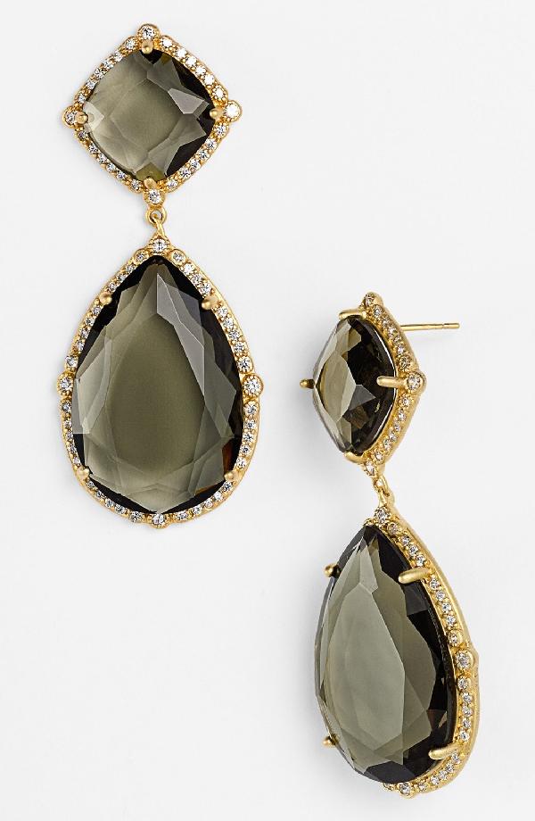 Freida Rothman 'metropolitan' Stone Drop Earrings In Gold