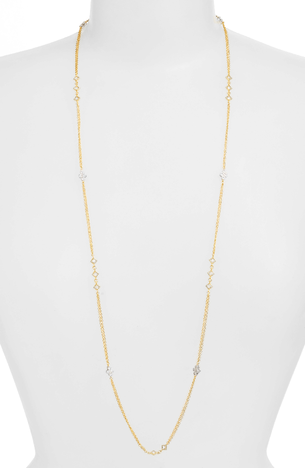 Freida Rothman Visionary Vermeil Station Necklace In Gold