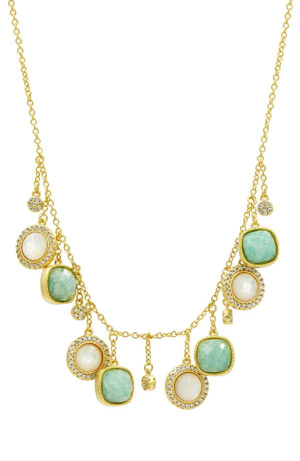 Freida Rothman Amazonian Allure Frontal Necklace In Gold