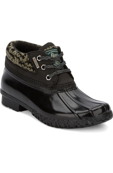 G.h. Bass & Co. Dorothy Waterproof Duck Boot In Black/ Black