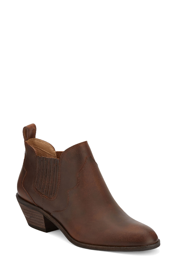 G.h. Bass & Co. Naomi Booties Women's Shoes In Dark Tan Leather