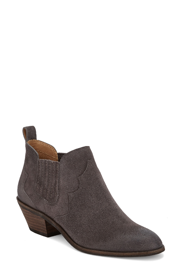 G.h. Bass & Co. Naomi Booties Women's Shoes In Charcoal Suede