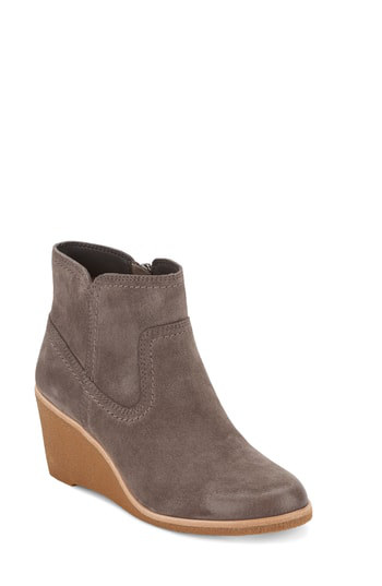 G.h. Bass & Co. Rosanne Wedge Bootie In Charcoal Suede