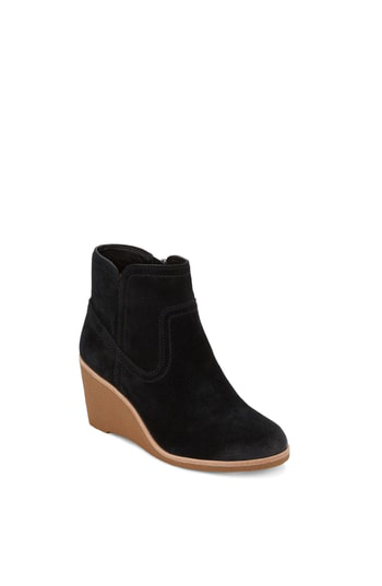 G.h. Bass & Co. Rosanne Wedge Bootie In Black Suede