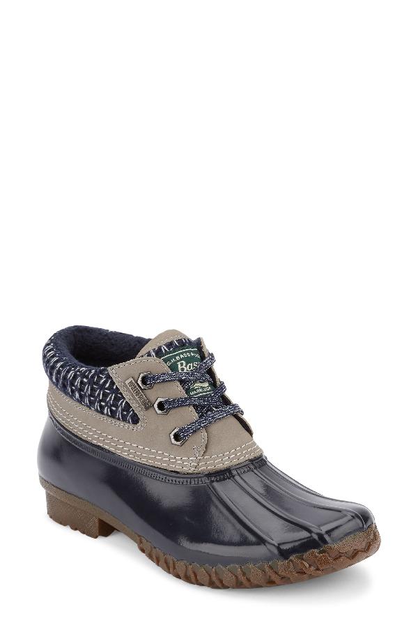 G.h. Bass & Co. Dorothy Waterproof Duck Boot In Grey/ Navy