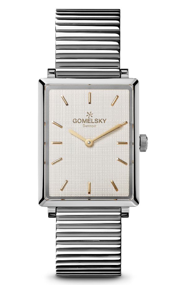 Gomelsky The Shirley Fromer Bracelet Watch, 32mm X 25mm In Silver/ Brass