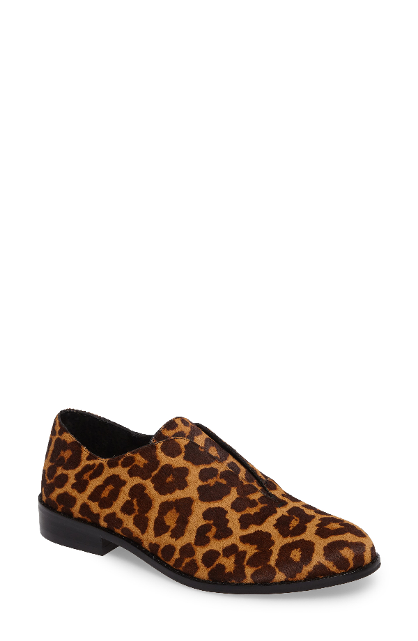 1.state Fiore Genuine Calf Hair Oxford Flat In Leopard Calf Hair