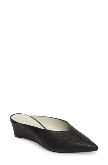 1.state Leanne Mule In Black Leather