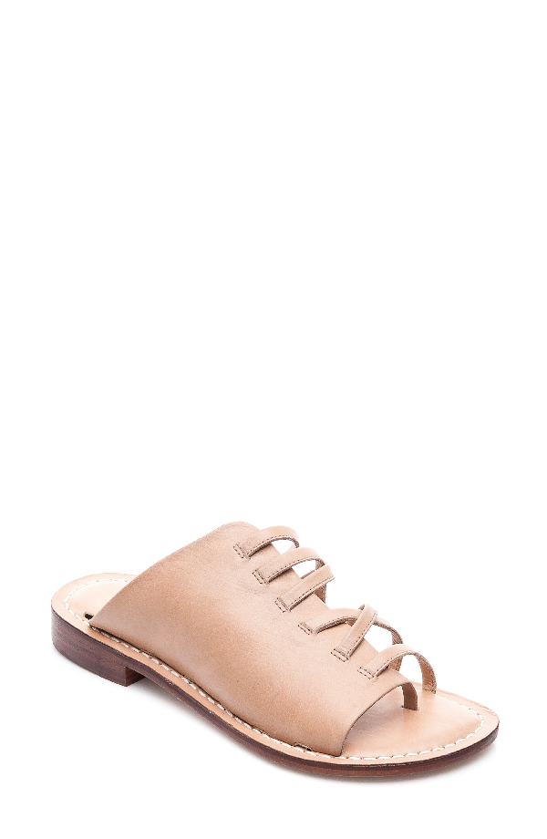 Bernardo Tori Slide Sandal In Light Camel Leather