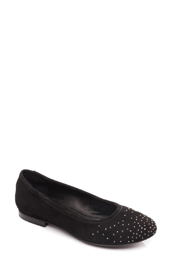 Bernardo Dallas Suede Ballet Flats In Black Suede