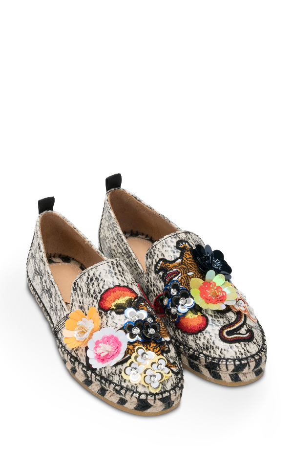 Bill Blass Sutton Espadrille Flat In Snake