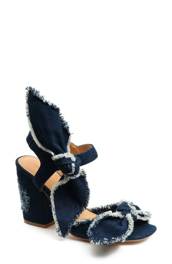 Bill Blass Carmen Sandal In Dark Denim