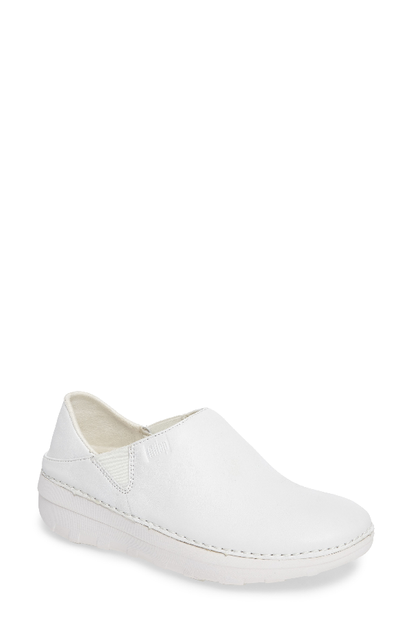 Fitflop Superloafer Flat In Urban White Leather