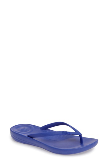 Fitflop Iqushion Flip Flop In Royal Blue