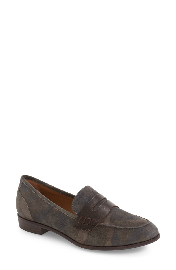 G.h. Bass & Co. Emilia Penny Loafer In Camo/ Espresso Suede